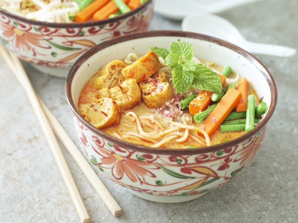 素娘惹咖喱面<br>Vegetarian Nyonya Curry Noodles