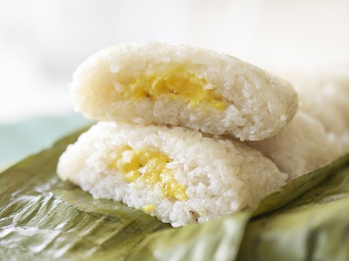 香蕉糯米糕<br>Glutinous Rice with Banana Filling