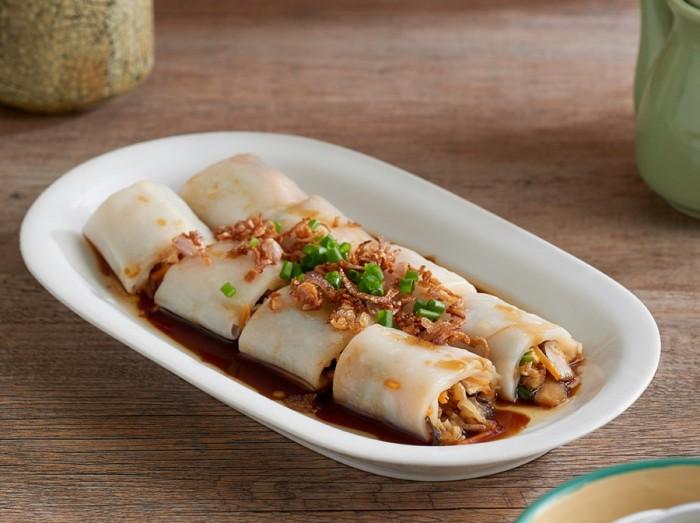 肠粉菜卷<br>Rolled Vegetables with Chee Cheong Fun