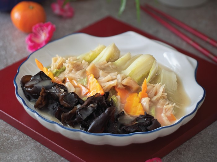 干贝烩娃娃菜<br>Fried Chinese Cabbage with Scallops