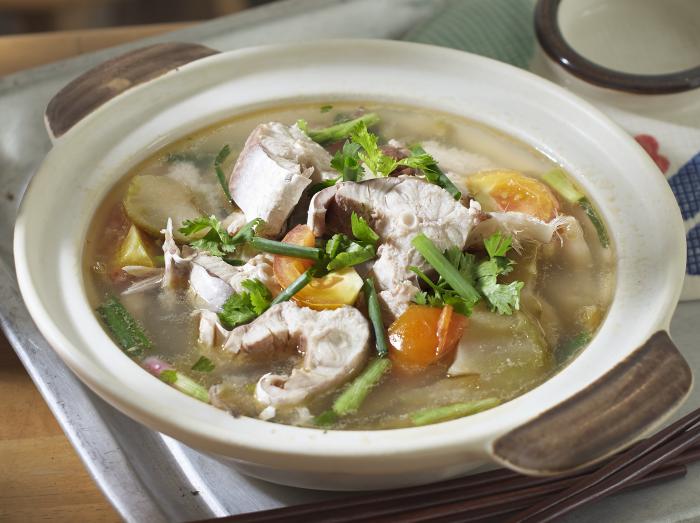 大港鲨鱼汤<br>Sungai Besar Shark and Preserved Vegetables Soup
