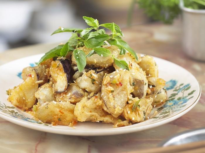 泰国香茄子<br>Thai Style Crispy Chilli Eggplant