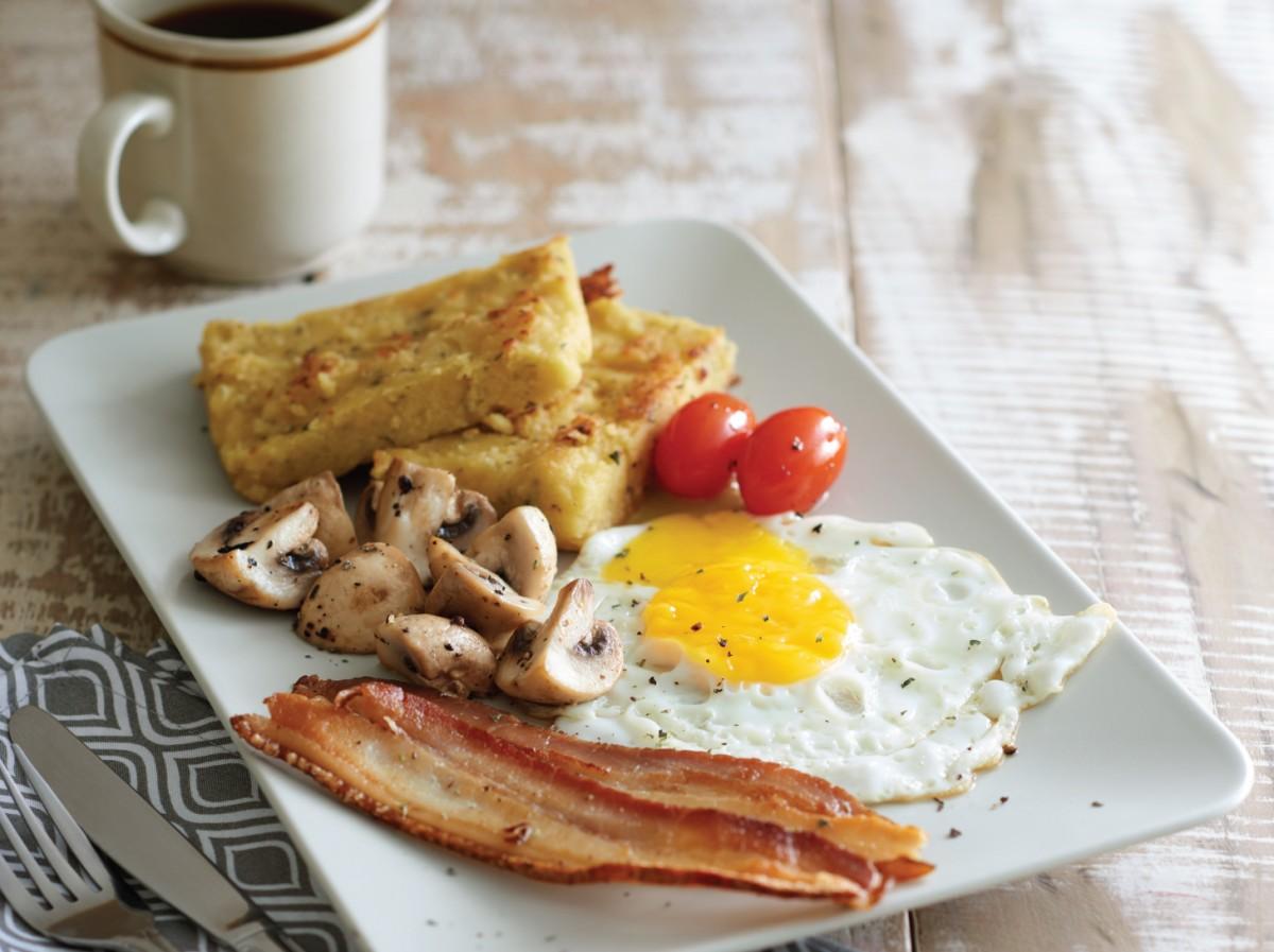 意式粟米糕早餐<br>Polenta Cake Set Breakfast