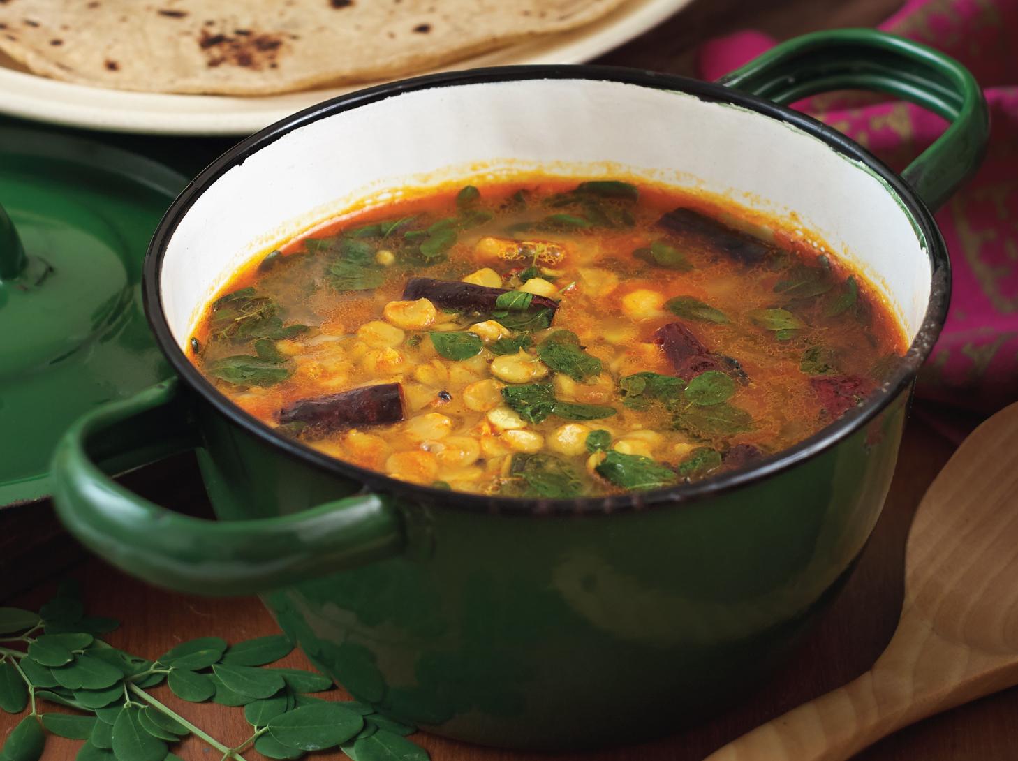 辣木叶豆瓣汤<br>Moringa Leaves Dhal Curry